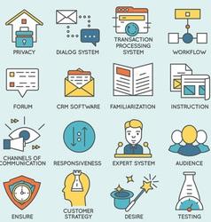 Customer relationship management - part 7 vector