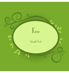 Eco card vector image