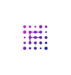 F letter dot logo icon design vector