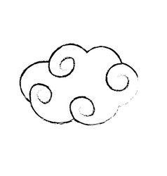 Figure natural cloud with ornamental design vector