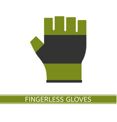 fingerless glove isolated vector image