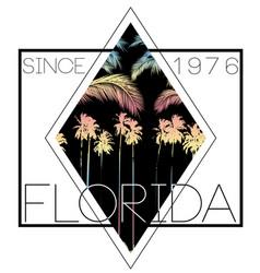 florida summer poster tee vector image