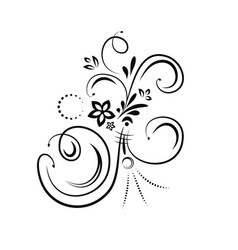 flourish design element vector image