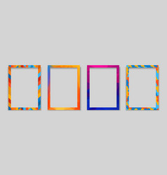 Frame modern art graphics hipsters style vector
