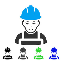 Glad worker flat icon vector