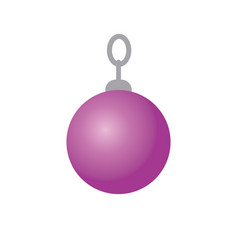 Glitter christmas ball decoration on white vector