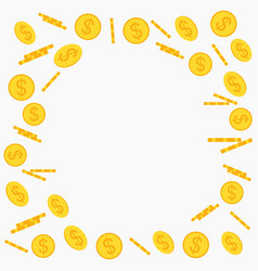 Gold coins flying vector