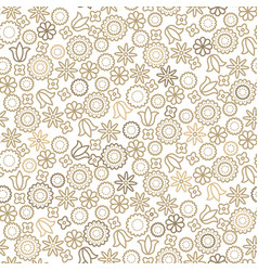 gold line floral 8 march seamless pattern vector image