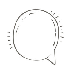 gray hand drawn of round speech vector image vector image