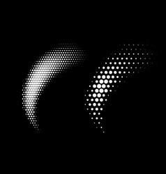 halftone dots curve gradient pattern background vector image
