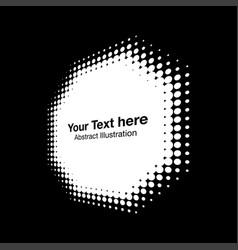 halftone octagon perspective frame dots logo vector image