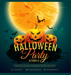 Halloween festival party background vector