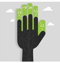 Hand City Art vector