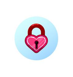 Heart lock flat design style vector
