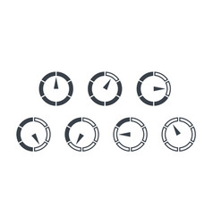 info-graphic gauge elements speedometer set icons vector image