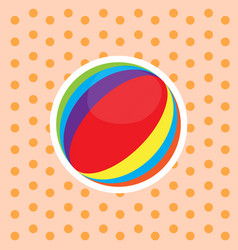 Isolated bach ball toy vector