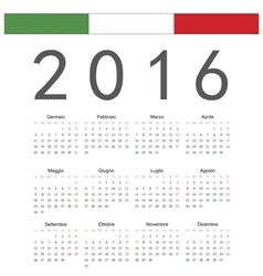 Italian square calendar 2016 vector
