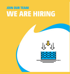 Join our team busienss company water evaporation vector
