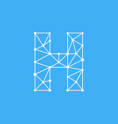 logo letter h dots lines vector image