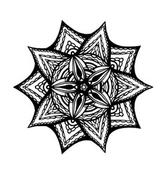 Mandala for coloring book unusual flower shape vector