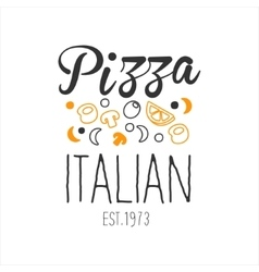 Many Ingredients Premium Quality Italian Pizza vector