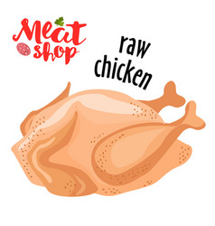 meat - raw chicken fresh meat icon vector image