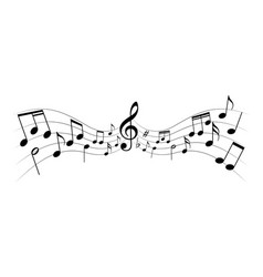 music melody vector image