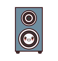 Music speaker device kawaii cartoon vector