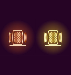 neon home speaker glowing sign voice assistant vector image