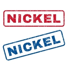Nickel Rubber Stamps vector image