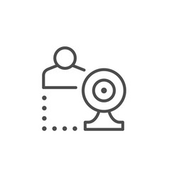 online communication line outline icon vector image
