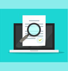 online compliance document inspection statement vector image