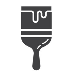 paint brush glyph icon build and repair paint vector image