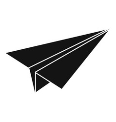 paper airplane icon simple style vector image