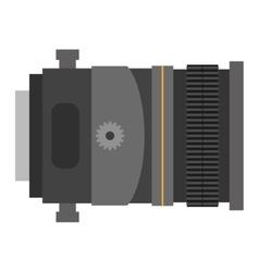 Photo optic lenses icon vector image