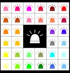 police single sign felt-pen 33 colorful vector image