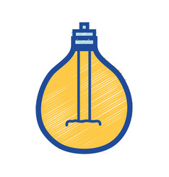 power bulb light and energy electricity vector image
