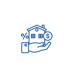 Property investment line icon concept property vector