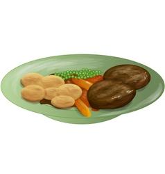 Roast dinner vector