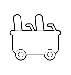Roller coaster wagon isolated icon vector