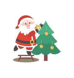 santa clause logo vector image