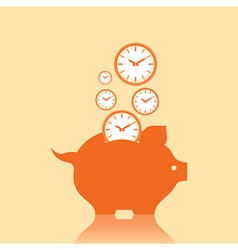 Save money concept with piggy bank stock vector image
