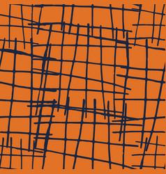 Seamless blue cross hatch pattern vector