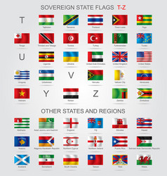 Set sovereign state flags t-z and other vector