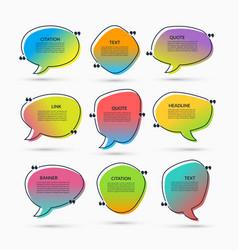 set speech bubbles text frames quote boxes vector image