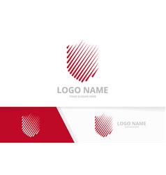 shield logo template security logotype vector image