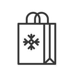 Shopping bag cute christmas and winter related vector