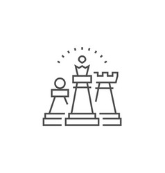 strategy line icon vector image