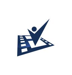 Success photographer logo design template vector