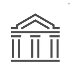 theater building icon design on white background vector image